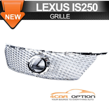 Lexus IS250 350 ISF Is-F グリル 06-08 Lexus IS250 IS350 Is-F Style Front Hood Grille Chrome 06-08レクサスIS250 IS350 IS-Fスタイルフロントフードグリルクローム
