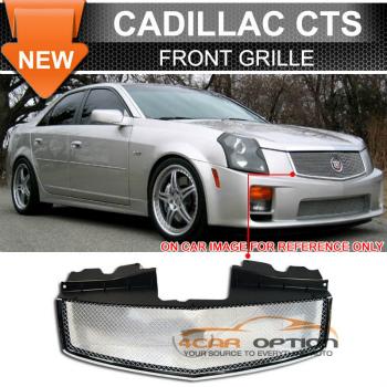 Cadillac CTS グリル 03-07 Cadillac CTS Cts V Stainless Mesh Grill Grille 03-07キャデラックCTSのCt Vステンレスメッシュグリルグリル