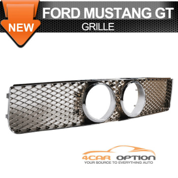 Ford Mustang グリル 05-09 Ford Mustang GT Front Grille With Center Fog Hole Chrome センター霧穴クロームで05-09フォードマスタングGTフロントグリル