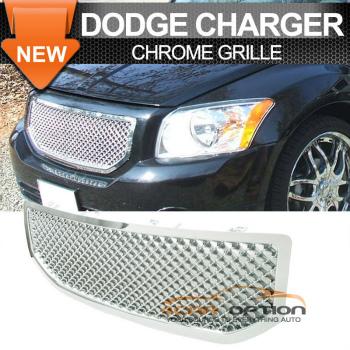 Dodge Caliber グリル 07-10 Dodge Caliber Honeycomb Mesh Grill Grille Chrome 07-10ダッジキャリバーハニカムメッシュグリルグリルクローム