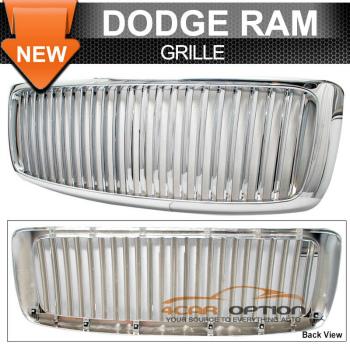Dodge Ram 1500 グリル 02-05 Dodge Ram 1500 Chrome Vertical Grill Grille 03 04 02-05ダッジラム1500クローム垂直グリルグリル03 04