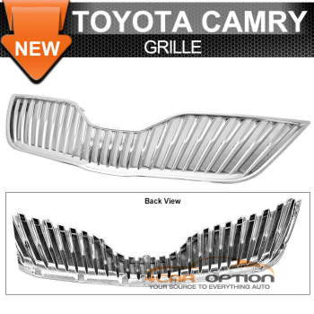 Toyota Camry グリル 10-11 Toyota Camry Chrome ABS Vertical Front Upper Hood Grill Grille 10-11トヨタカムリクロームABS垂直フロントアッパーフードグリルグリル