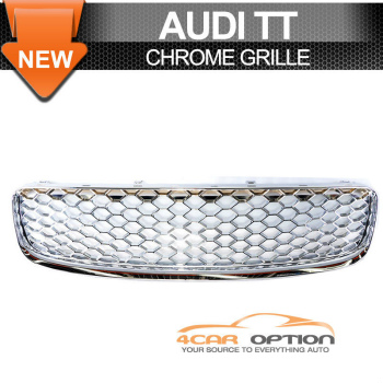 Audi TT グリル 00-06 Audi TT Chrome Front Upper Mesh Hood Grille Grill 00-06アウディTTクロームフロントアッパーメッシュフードグリルグリル