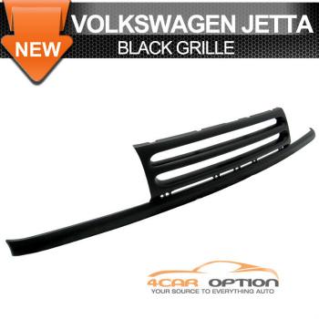 Volks Wagen Jetta 3 グリル 93-99 Volkswagen Jetta 3 ABS Black Grille Mk3 Front Upper Badgeless Slat 93-99フォルクスワーゲンジェッタ3 ABSブラックグリルMK3フロントアッパーBadgelessスラット