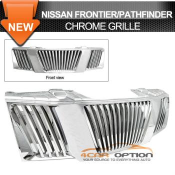Nissan Frontier Pathfinder グリル For 05-07 Nissan Frontier Pathfinder Chrome Grill Grille 05から07のための日産フロンティアパスファインダークロームグリルグリル