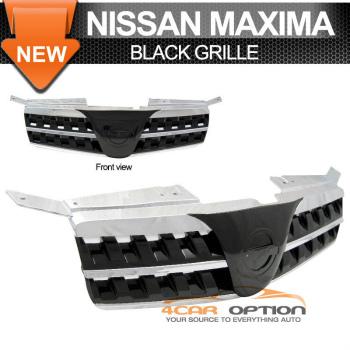 Nissan Maxima グリル For 04-06 Nissan Maxima Front Black Sport Grille Grill 04-06日産マキシマフロントブラックスポーツグリルグリル