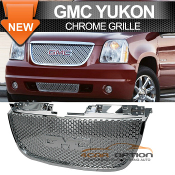 GMC Yukon グリル 07-13 GMC Yukon Denali Chrome Round Hole Grille Grill 7月13日GMCユーコンデナリChromeの丸穴グリルグリル