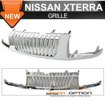 ☆送料無料☆USパーツ 海外メーカー輸入品 Nissan Xterra グリル Fit 春の新作 ショップ 02-04 Chrome Grille フィット02-04日産エクステラ垂直クロームグリル Vertical