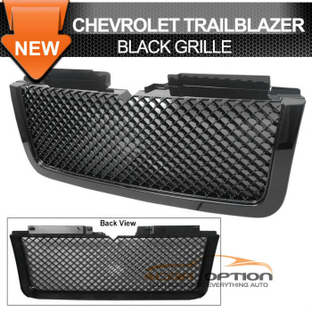 Chevrolet Trail Blazer グリル 06-09 Chevy Trail Blazer LT Black Mesh Grill Grille 06-09シボレートレイルブレイザーLTブラックメッシュグリルグリル