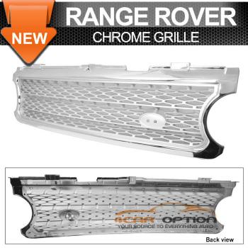 Land Range Range Rover グリル 06-09 Land Rover Range Rover Hse Chrome Silver Front Hood Grille Grill 06-09ランドローバーレンジローバーHSEクロームシルバーフロントフードグリルグリル