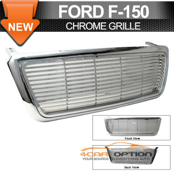 Ford F150 グリル 04-06 F150 F-150 Replacement 1Pc Chrome Grille Grill 04-06 F150 F-150交換1PCクロームグリルグリル