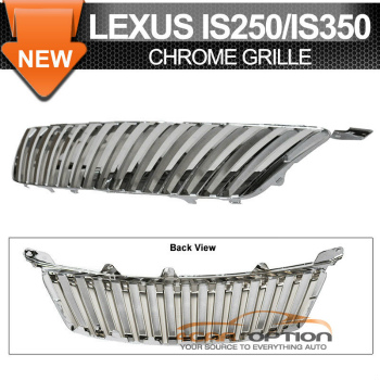 Lexus IS250 350 グリル 06-08 Lexus IS250 350 Chrome ABS Front Hood Grille Grill Vertical Style 06-08レクサスIS250 350クロームABSフロントフードグリルグリル垂直スタイル