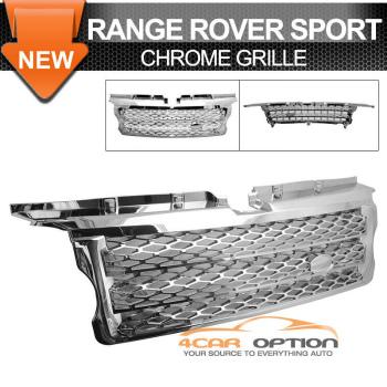 Land Range Range Rover Sport グリル 06-09 Land Range Rover Sport Utility Front Hood Grille Grill Chrome 06-09ランドレンジローバースポーツユーティリティーフロントフードグリルグリルクローム