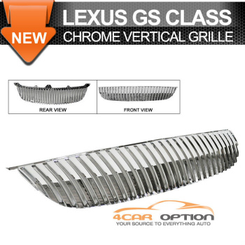 Lexus GS430 GS350 GS450H グリル 06-07 Lexus Gs430 GS350 GS450H Chrome ABS Front Hood Grille Grill Vertical Style 06-07レクサスGS430 GS350 GS450HクロームABSフロントフードグリルグリル垂直スタイル