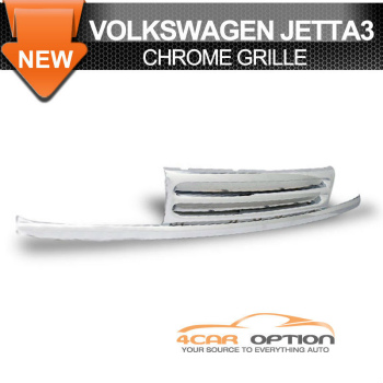 Volks Wagen Jetta 3 グリル 93-95 Jetta 3 Front Hood ABS Grille Chrome Grill 93-95ジェッタ3フロントフードABSグリルクロームグリル