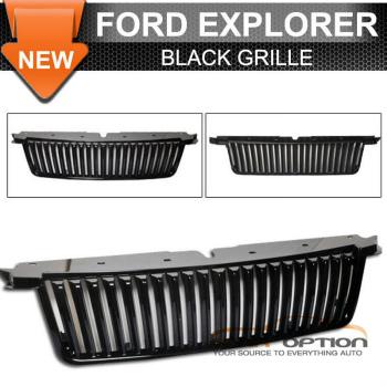 Ford Explorer グリル 06-10 Ford Explorer Vertical Black Hood Grille Vip 06-10フォードエクスプローラー垂直ブラックフードグリルのVIP