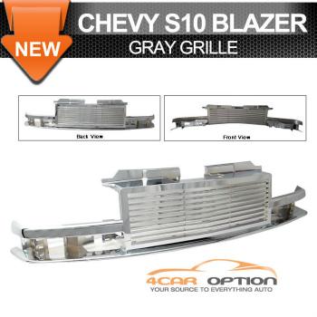 Chevrolet S10 Blazer グリル 98-02 Chevy S10 Blazer Truck 1Pc Chrome Grille 98-02シボレーS10ブレイザートラック1PCクロームグリル