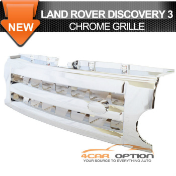 Land Rover Discovery グリル 05-09 Land Rover Discovery 3 Lr3 Front Chrome ABS Plastic Grille Fence 05-09ランドローバーディスカバリー3 Lr3とフロントクロームABSプラスチックグリルフェンス