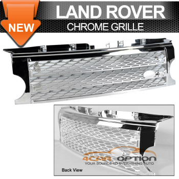 Land Rover Discovery グリル 05-09 Land Rover Discovery 3 Lr3 Chrome Silver Grille Grill 05-09ランドローバーディスカバリー3 Lr3とクロームシルバーグリルグリル