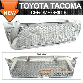 Toyota Tacoma グリル 05-09 Toyota Tacoma Chrome Mesh Grill Grille 05-09トヨタタコマクロームメッシュグリルグリル