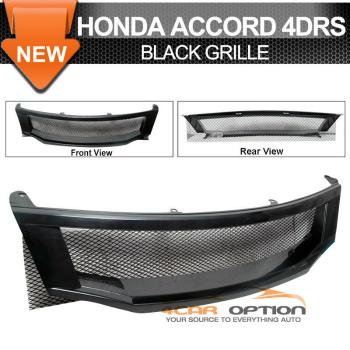Honda Accord グリル 08-10 Honda Accord 4Drs T-R Black Front Grille Grill 08-10ホンダアコード4Drs T-Rブラックフロントグリルグリル