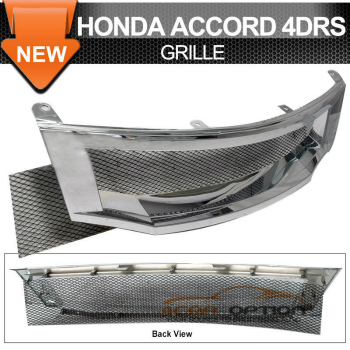 Honda Accord グリル 08-10 Honda Accord 4Drs Sedan T-R Chrome Front Grille 08-10ホンダアコード4DrsセダンT-Rクロームフロントグリル