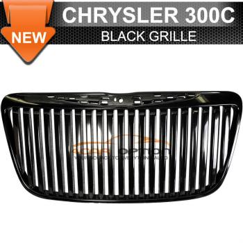 Chrysler 300C グリル 11-12 Chrysler 300C Vertical Front Grille Black Replacement Grill 11月12日クライスラー300C垂直フロントグリルブラックの交換グリル
