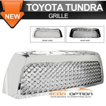 Toyota Tundra グリル 07-09 Toyota Tundra Chrome Mesh Grill Grille Ch 07-09トヨタタンドラクロームメッシュグリルグリルChの