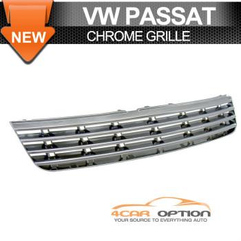 Volks Wagen Passat グリル 97-00 VW Passat Mesh Sport Chrome Grille Grill 98 99 97から00 VWパサートメッシュスポーツクロームグリルグリル98 99