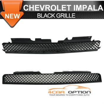 Chevrolet Impala グリル 06-11 Chevy Impala Monte Carlo Upper Hood Mesh Grille Black ABS LT LS SS Ltz 06-11シボレーインパラモンテカルロアッパーフードメッシュグリルブラックABS LT LS SS LTZ