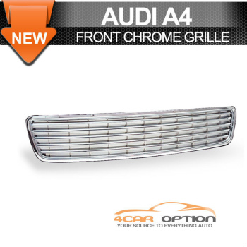 Audi A4 グリル 96-01 Audi A4 Sport Chrome Grille Grill Type A 99 96から01アウディA4スポーツクロームグリルグリルタイプA 99