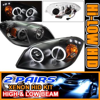 ☆送料無料☆USパーツ 海外メーカー輸入品 大放出セール Chevrolet Cobalt ヘッドライト 未使用 2 Sets Headlights CCFL Halo 05-10 Projector 2セットは05-10コバルトCCFLヘイロープロジェクターヘッドライトをHID HID