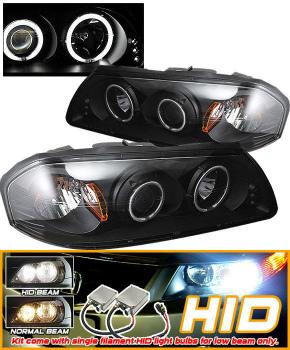 Chevrolet Impala ヘッドライト HID 00-05 Impala CCFL Halo Projector Headlights Black HID 00-05インパラCCFLヘイロープロジェクターヘッドライトブラック