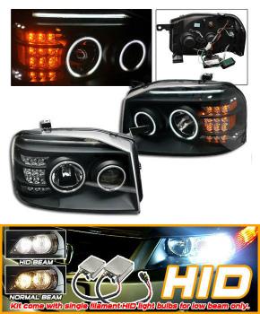 Nissan Frontier ヘッドライト For HID 01-04 Nissan Frontier Black CCFL Halo Projector Headlights HID 01-04日産フロンティアブラックCCFLヘイロープロジェクターヘッドライトのための