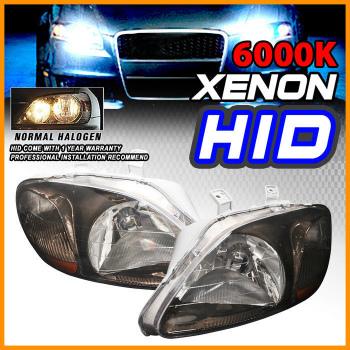 Honda Civic ヘッドライト 96-98 Honda Civic Gunmetal Headlights + JDM Xenon HID 6000K 96-98ホンダシビックガンメタルヘッドライト+ JDMキセノンHID 6000K
