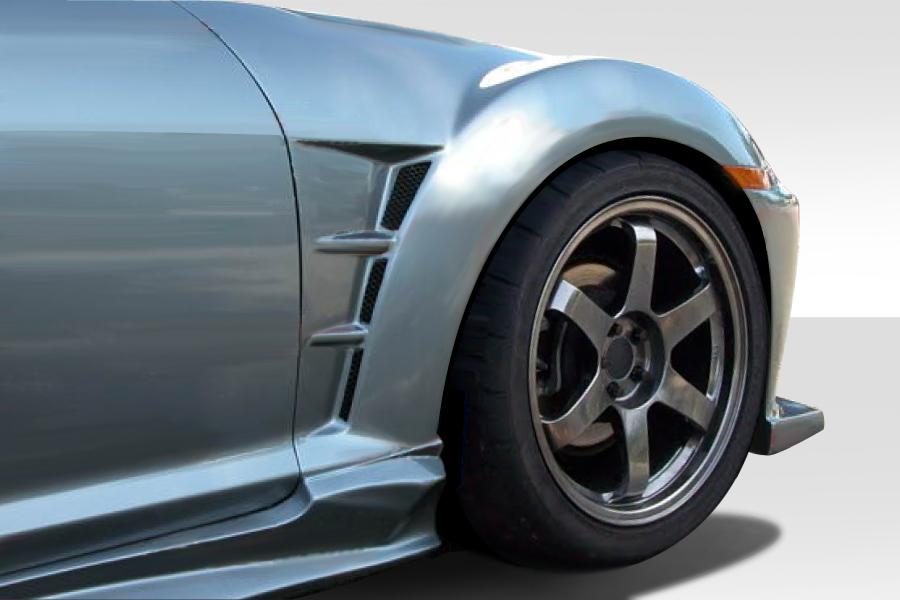 USパーツ 04-08マツダRX8 MスピードDuraflexボディキット - フロントフェンダー! 109723 04-08 Mazda RX8 M-Speed Duraflex Body Kit- Front Fenders!!! 109723