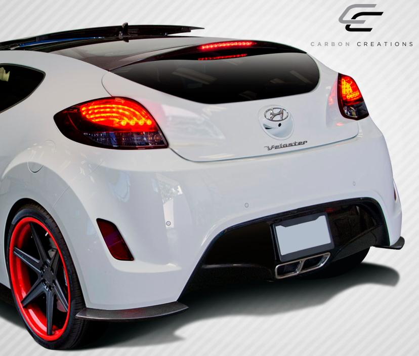USパーツ Hyundai Veloster GTレーシングカーボンファイバーリアスプリッターボディキット108898 12-16 Fits Hyundai Veloster GT Racing Carbon Fiber Rear Splitter Body Kit 108898