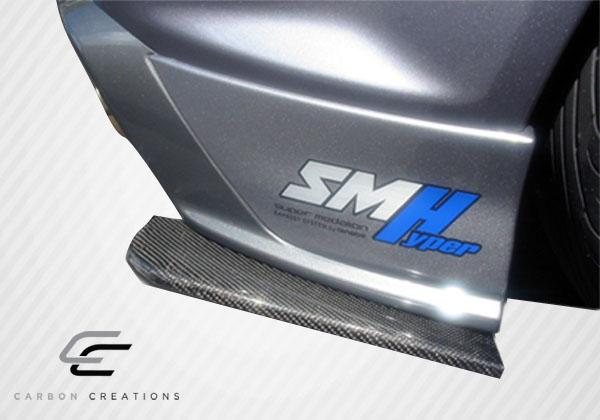 USパーツ 59-16ユニバーサルリアカーボンファイバークリーナースプリッター! 102900 59-16 Universal Rear Carbon Fiber Creations Splitters!!! 102900