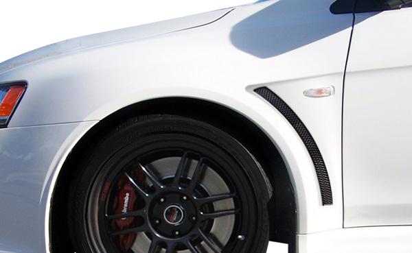 USパーツ 08-15三菱ランサーEVO X Duraflexボディキットを見る - フロントフェンダー! 106956 08-15 Mitsubishi Lancer EVO X Look Duraflex Body Kit- Front Fenders!!! 106956