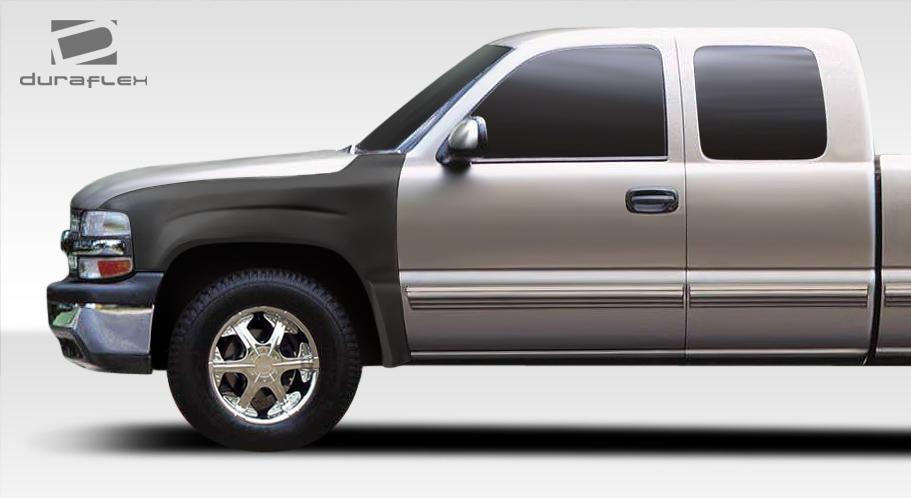 USパーツ 99-02シボレーシルバラードオフロードバルジDuraflexボディキット - フロントフェンダー106469 99-02 Chevrolet Silverado Off Road Bulge Duraflex Body Kit- Front Fenders 106469