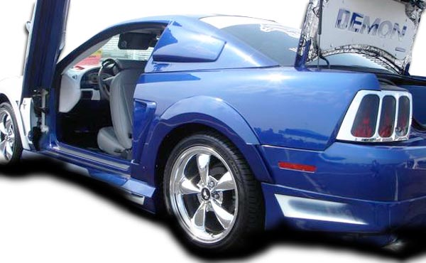 USパーツ 99-04 Ford Mustang Demon Coutureリアフェンダーフレア!!! 104787 99-04 Ford Mustang Demon Couture Rear Fender Flares!!! 104787