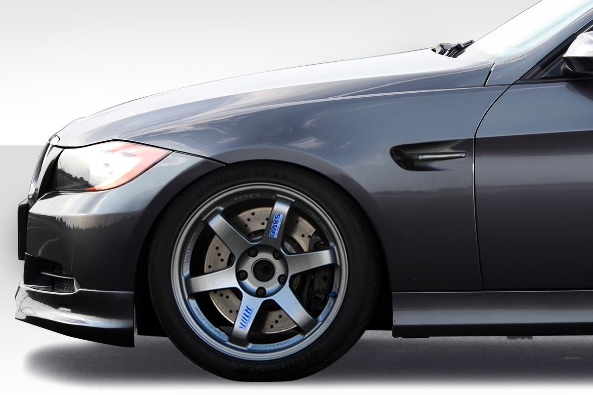 USパーツ 06-11 BMW 3シリーズ4DR M3 Duraflex Body Kit-フェンダーを見る! 112702 06-11 BMW 3 Series 4DR M3 Look Duraflex Body Kit- Fenders!!! 112702