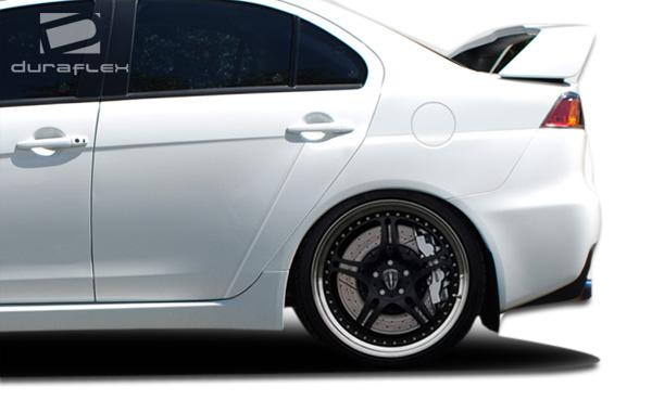 USパーツ 08-15三菱ランサーEVO X Duraflexボディキットを見る - リアフェンダー! 106957 08-15 Mitsubishi Lancer EVO X Look Duraflex Body Kit- Rear Fenders!!! 106957