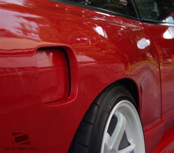 USパーツ 89-94 Fits Nissan 240SX HB M-1 Duraflexリアフェンダーフレア! 100864 89-94 Fits Nissan 240SX HB M-1 Duraflex Rear Fender Flares!!! 100864
