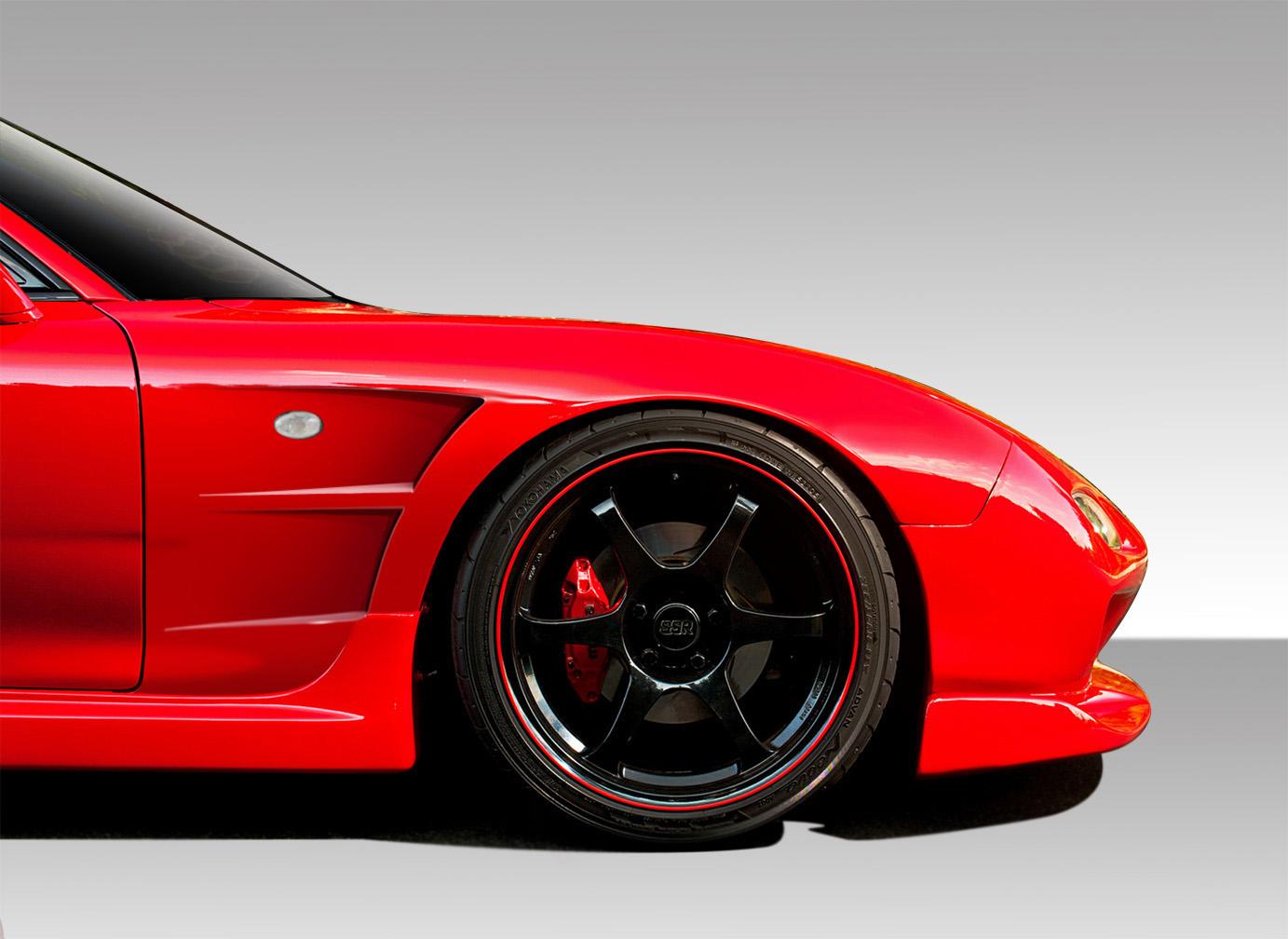 USパーツ 93-97マツダRX7 B - スポーツDuraflexボディキット - 25MMフロントフェンダー! 109059 93-97 Mazda RX7 B-Sport Duraflex Body Kit- 25MM Front Fenders!!! 109059