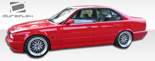 USパーツ 89-95 BMW 5シリーズM5ディラフレックスサイドスカートボディキットを見る!!! 103206 89-95 BMW 5 Series M5 Look Duraflex Side Skirts Body Kit!!! 103206