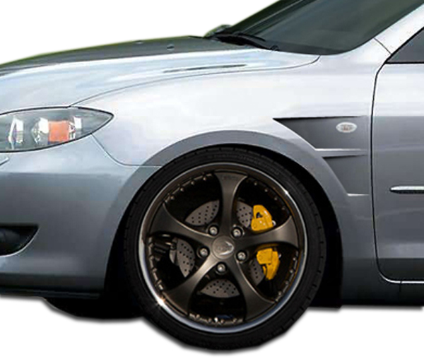 USパーツ 04-09マツダマツダ3 4DR GTコンセプトDuraflexボディキット - フェンダー! 106199 04-09 Mazda Mazda 3 4DR GT Concept Duraflex Body Kit- Fenders!!! 106199