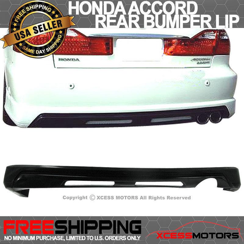 USパーツ 98-02ホンダアコード4DrセダンポリウレタンPUリアバンパーリップスポイラーディフューザー 98-02 Honda Accord 4Dr Sedan Poly Urethane PU Rear Bumper Lip Spoiler Diffuser