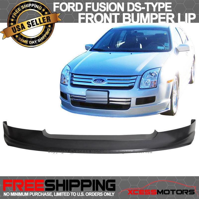 USパーツ 06-09フォードフュージョンDsタイプフロントバンパーリップスポイラーポリウレタン 06-09 Ford Fusion Ds-Type Front Bumper Lip Spoiler Poly Urethane