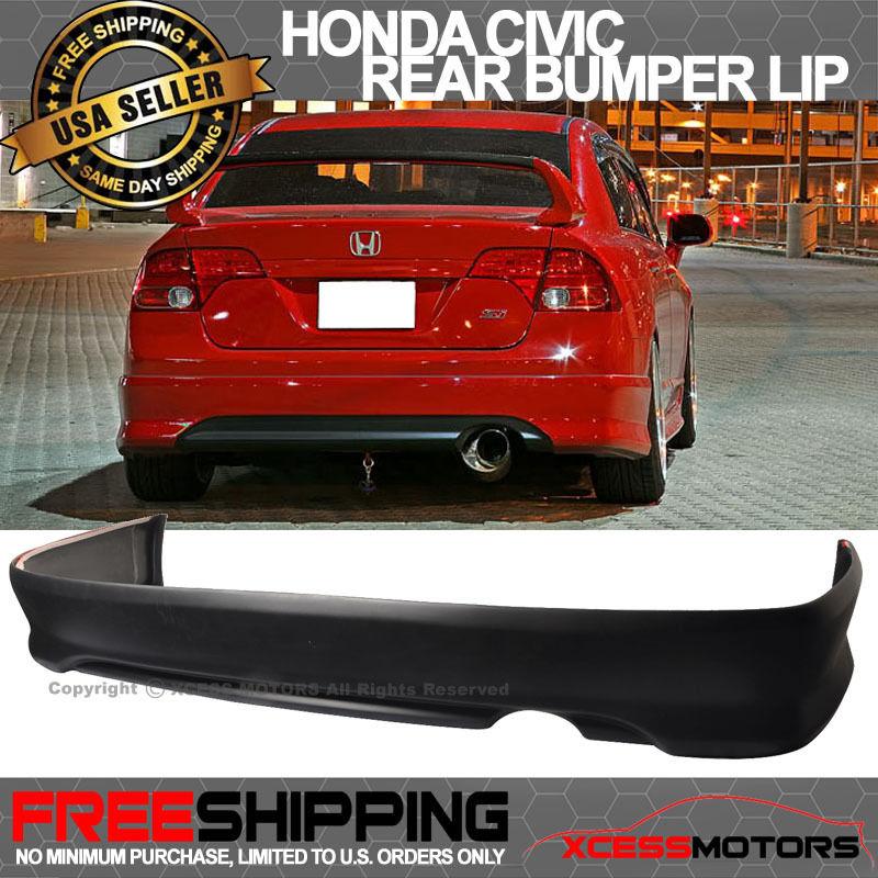 USパーツ 06-11ホンダシビック4ドアセダンタイプスポーツPUリアバンパーリップスポイラーJDM 06-11 Honda Civic 4 Doors Sedan Type Sport PU Rear Bumper Lip Spoiler JDM